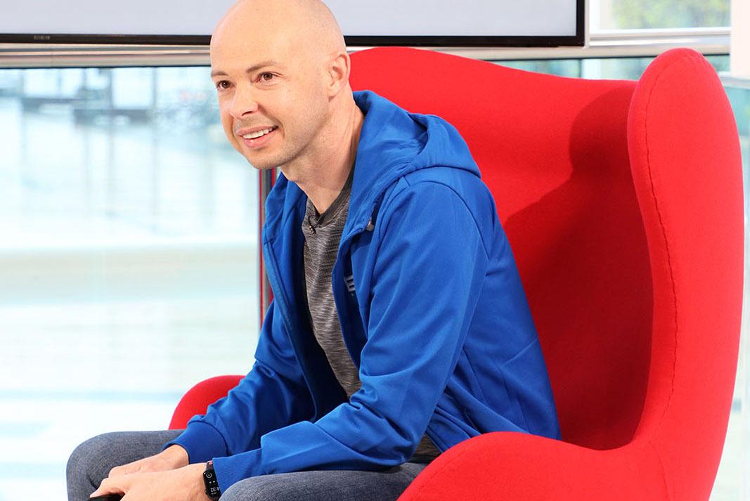 CEO of EKM Antony Chesworth on set at Best Companies Live