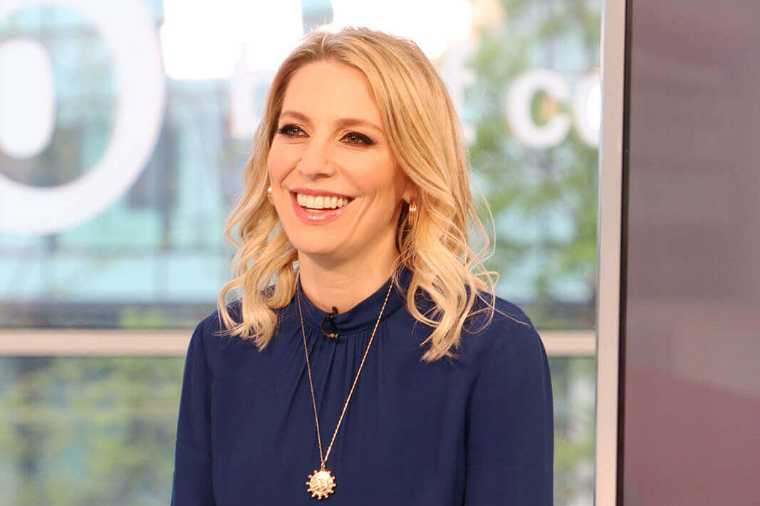 Presenter and actress Jemma Bolt on set at Best Companies Live