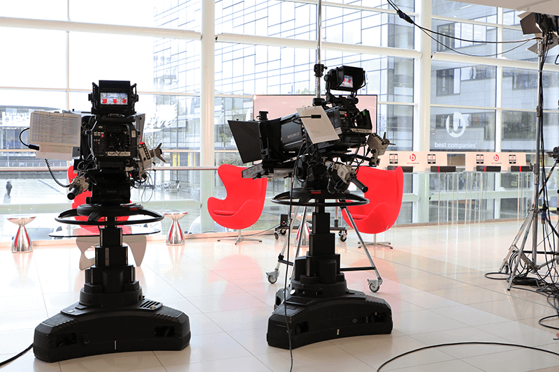 Video Cameras on BC Live set