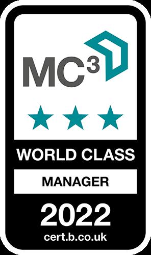MC3 World Class Manager Accreditation logo