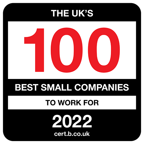 The UK's 100 Best Small Companies to Work For 2021 list logo