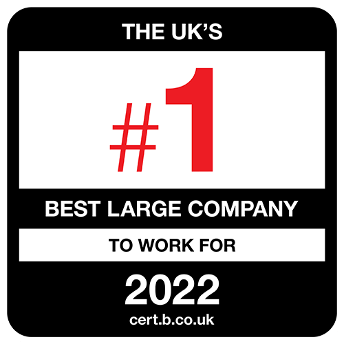 The UK's Number One Best Mid-Sized Companies to Work For 2021 list logo