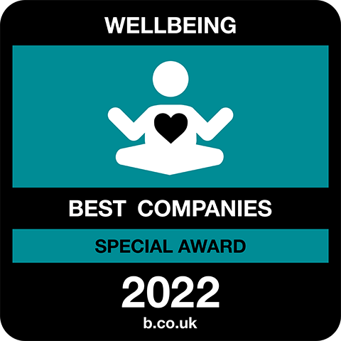 Wellbeing Best Companies Special Award 2021 logo