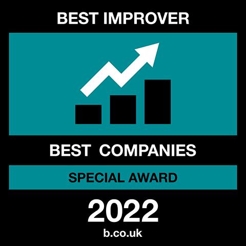 Best Improver Best Companies Special Award 2021 logo