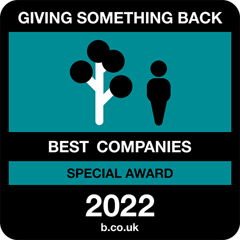 Giving Something Back Best Companies Special Award 2021 logo