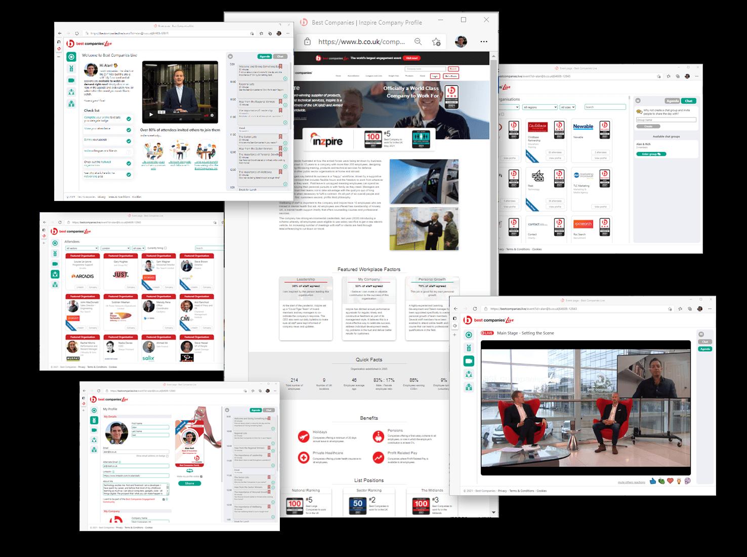 Best Companies Live website screen shots