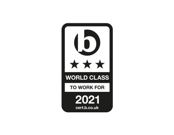 Accreditation logo used one colour