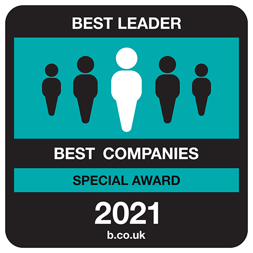 Best Companies Best Leader Special Award Logo