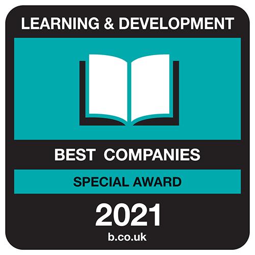 Best Companies Learning & Development Special Award logo