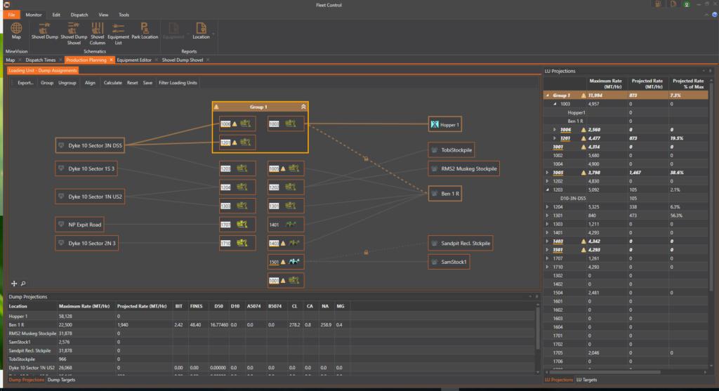 Dynamic Dispatch Configuration Screen