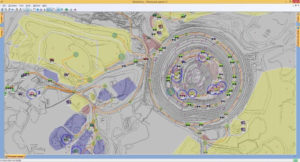 Map of Olimpiada mine