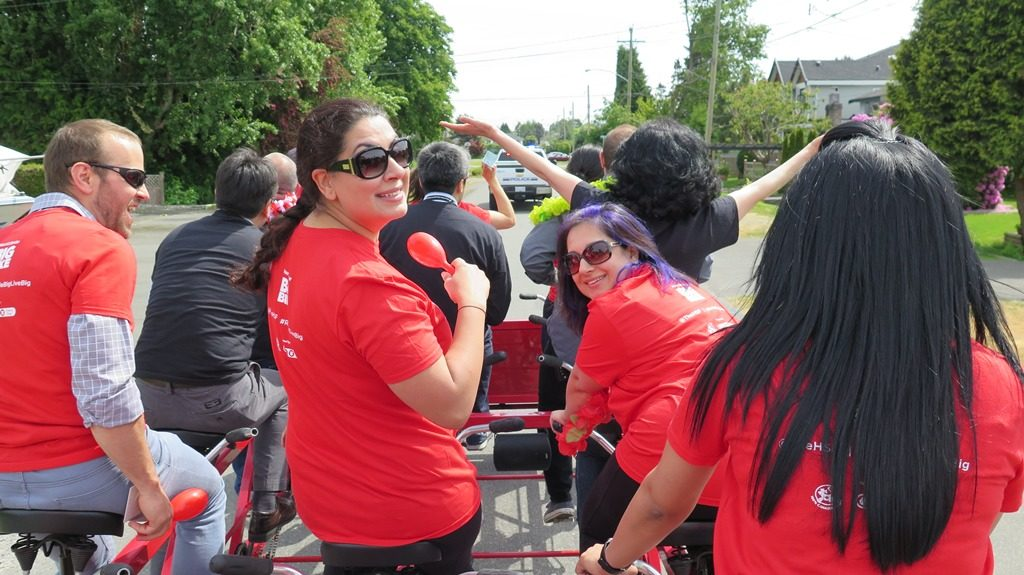 As spring lands in Greater Vancouver, staff at our head office are ready to get outside and get their blood moving. Next month, we're even doing it for charity. On May 17, our team of developers, technicians, and other personnel is climbing aboard the Big Bike for the Heart & Stroke Foundation.