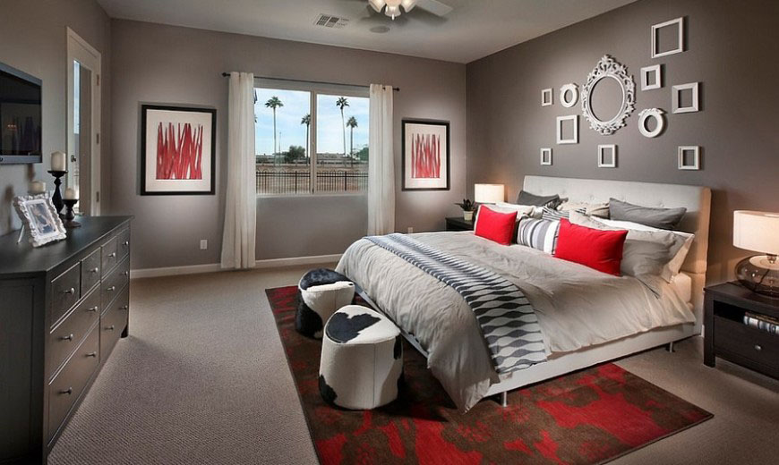 gray-bedroom-with-a-splash-of-red