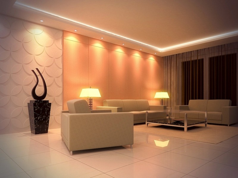Decorations Modern Minimalist Living Room Design With Recessed pertaining to Cool Cove Ceiling Lights in the Living room