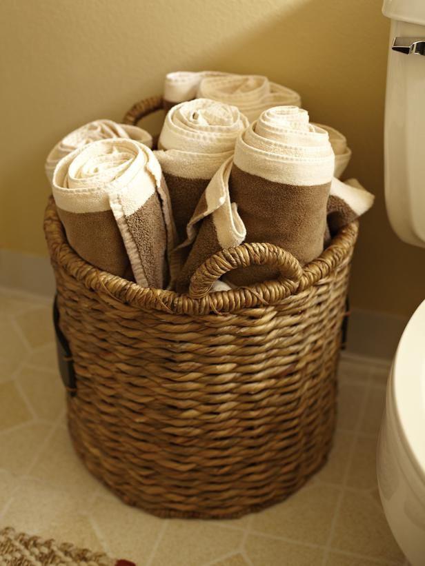 hanging towel storage