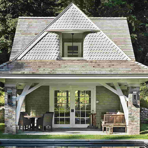 A pool house design presents bathers a location to change, clean up, and get a snack as well as a drink. This sort of structure is great for pools, saving guests the travel coming from the pool to the house still dripping wet and shivering – and helping you the problem of drying everything after the get-together.
