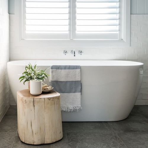 Grey is often considered a really dull color to try and work with. Despite that common misconception, Grey bathrooms are usually feel very clean, elegant, and stylish. Grey also works with just about any color because it's so neutral!