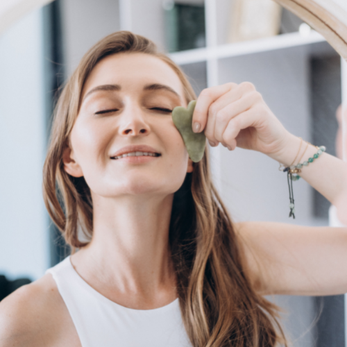 Gua Sha is a traditional Chinese skin treatment that uses a scraping technique on the skin using a tool known as a gua sha.