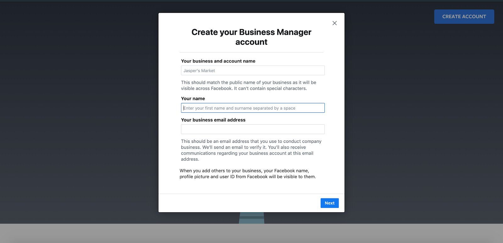 How create Influencer's Business Manager account for Whitelisting