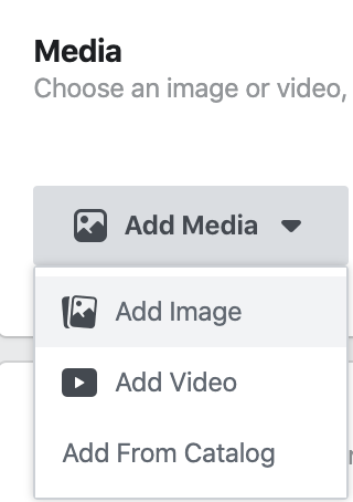 Adding media to ads in Facebook Ads Manager