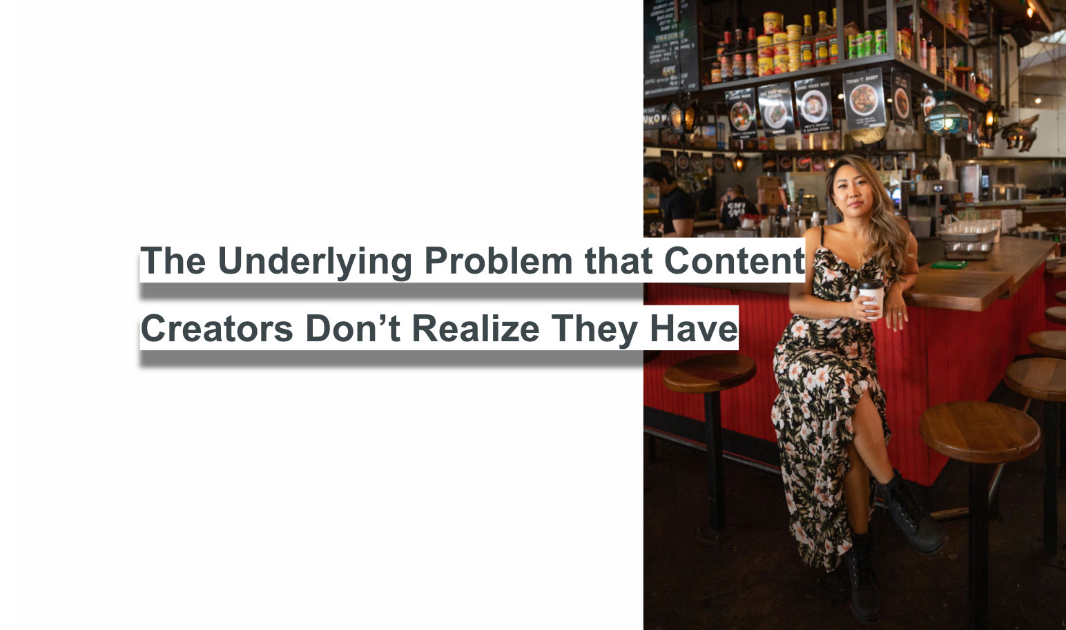Blogger and digital content creator, Sarah Chetrit, discusses the problem that creators don't even know they have, and how she's working to combat the problem in the industry.