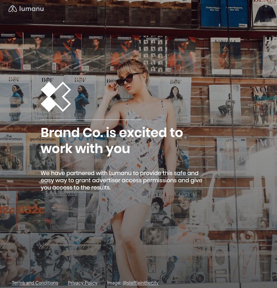 Lumanu now generates custom sign-up links and branded landing pages for your influencer network.