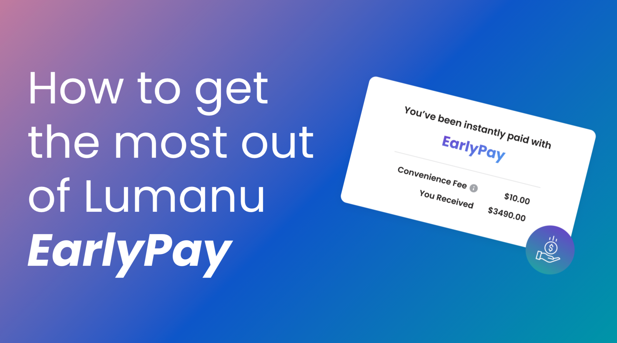 Lumanu EarlyPay offers creators and freelancers financial freedom and the option to get paid on their terms. With the lowest fees in the industry, EarlyPay gets creators paid for their brand collaborations instantly.