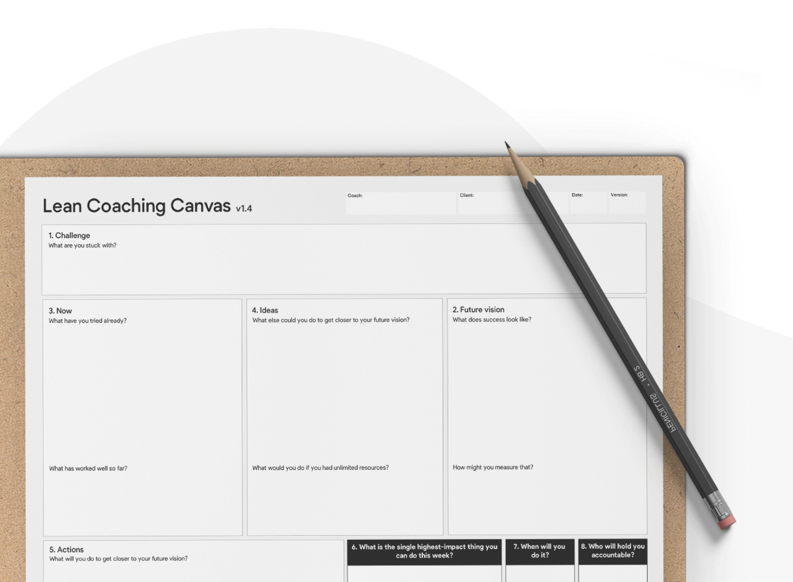 Six ways to use our Lean Coaching Canvas to overcome your product management challenges