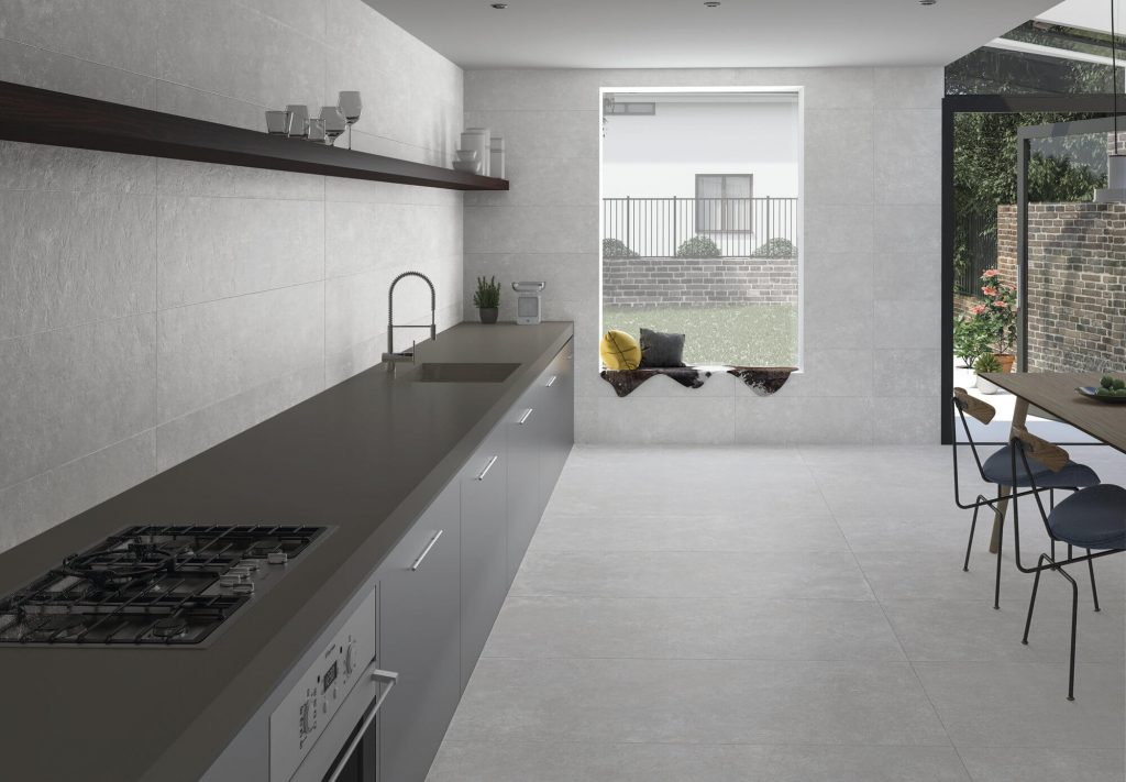 Porcelain slabs have been increasing in size allowing greater possibilities