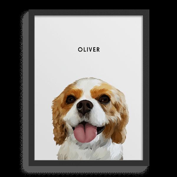 Custom Pet Portraits, Framed