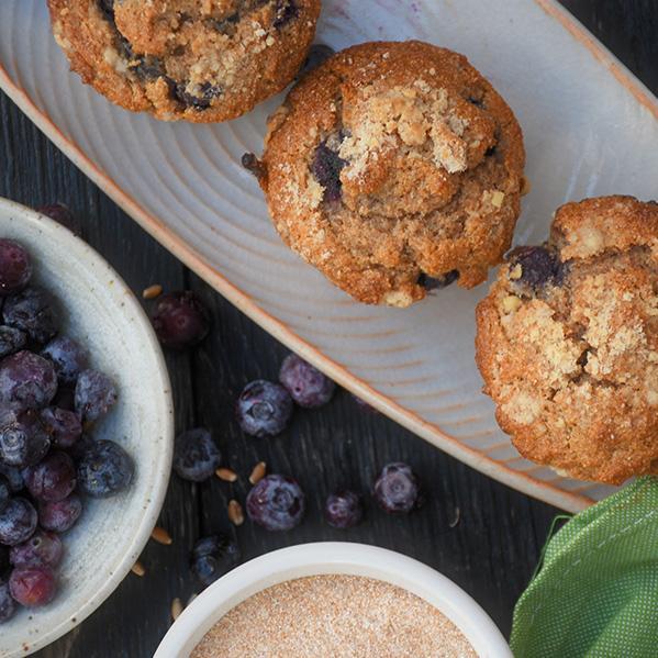 Blueberry WheatHeart Muffins