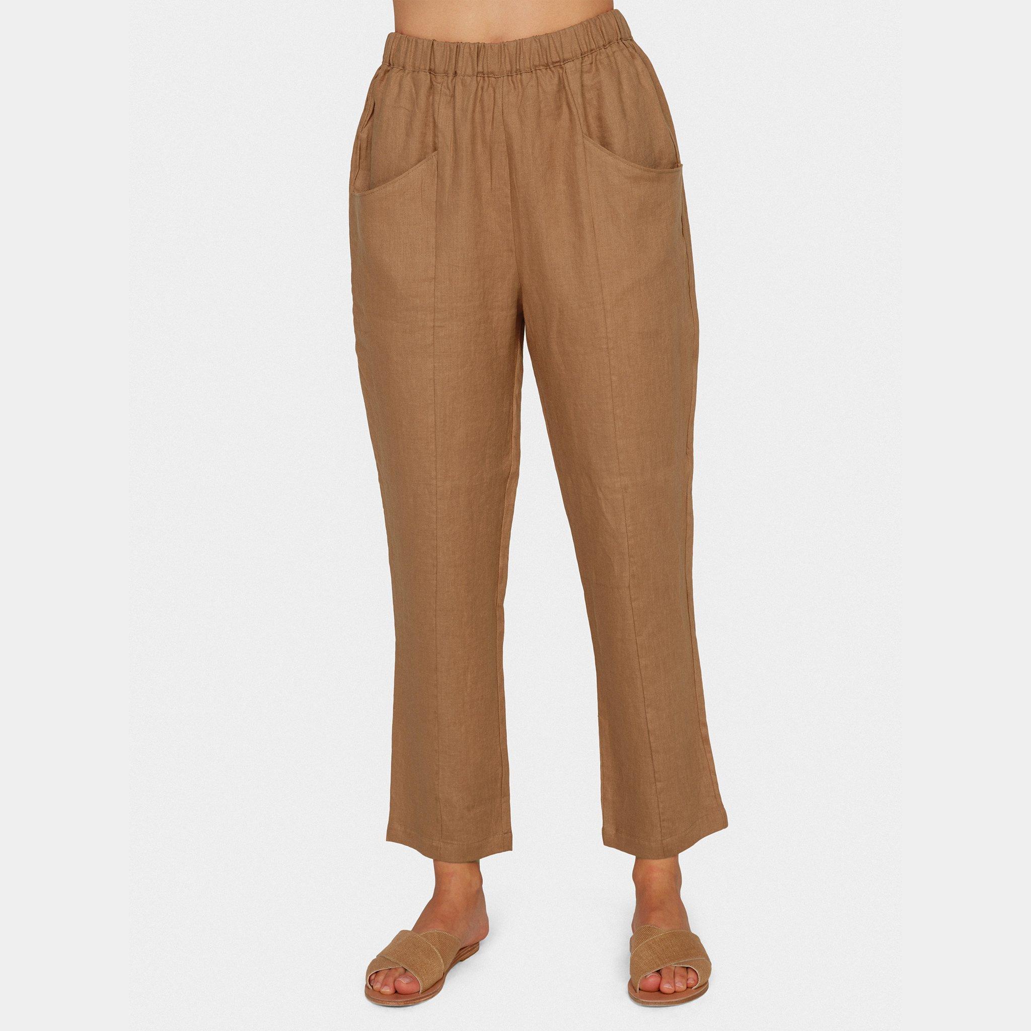 Linen High Waisted Pant