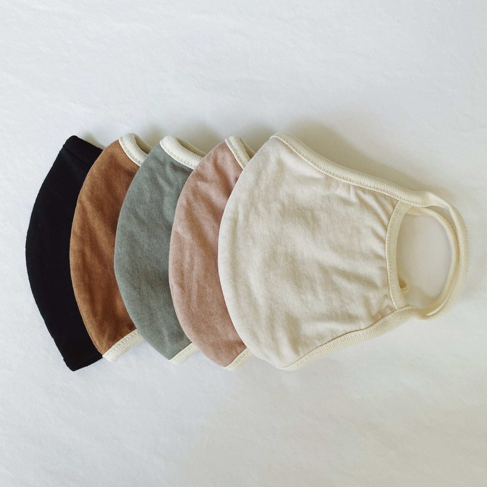 Organic Cotton Face Mask 5 Pack