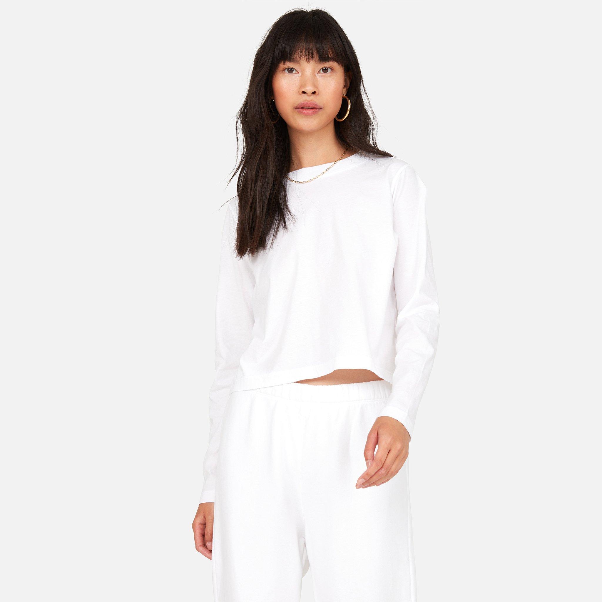 Organic Cotton Long Sleeve Crop Tee