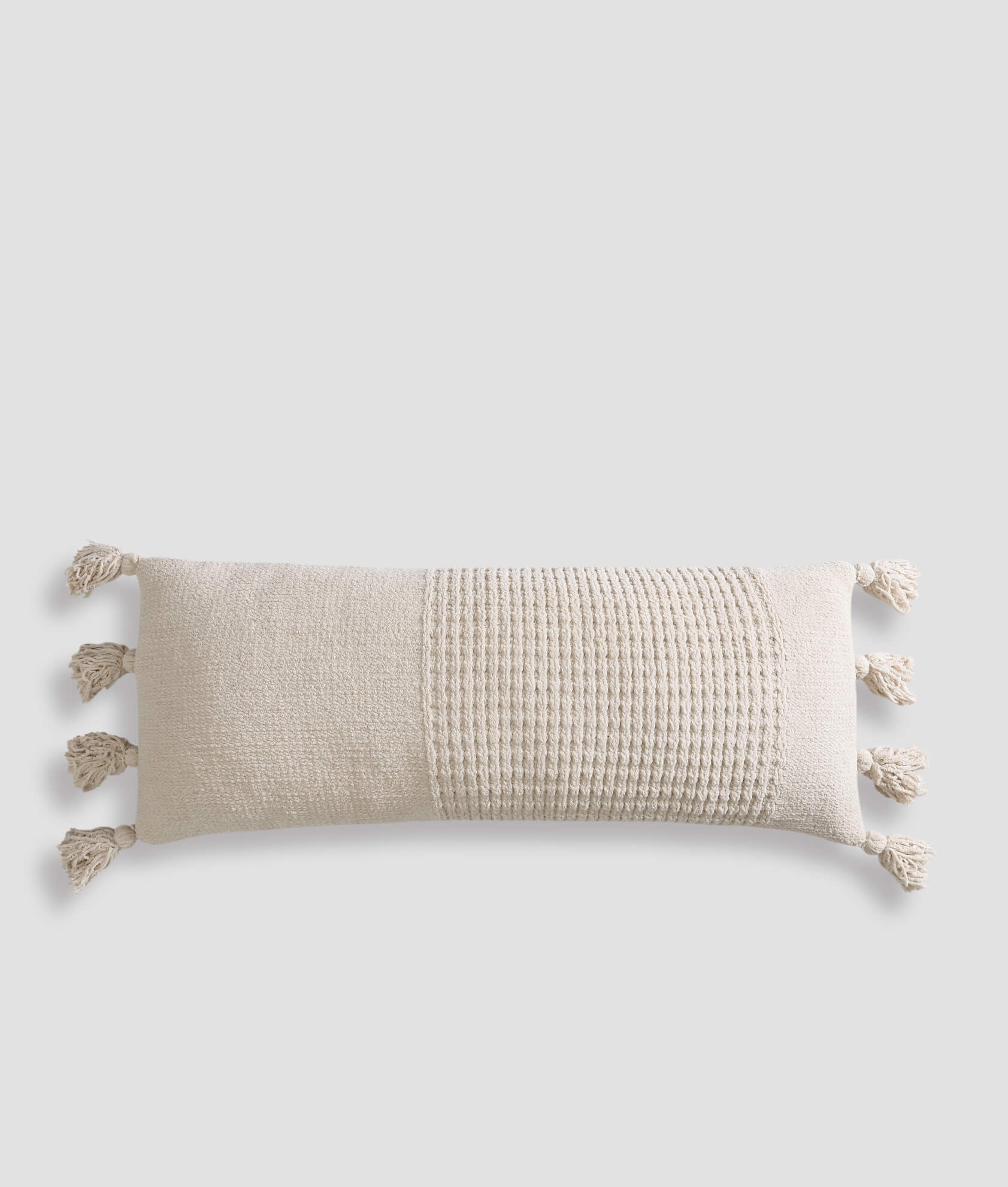 Braided Pom Pom Lumbar Pillow
