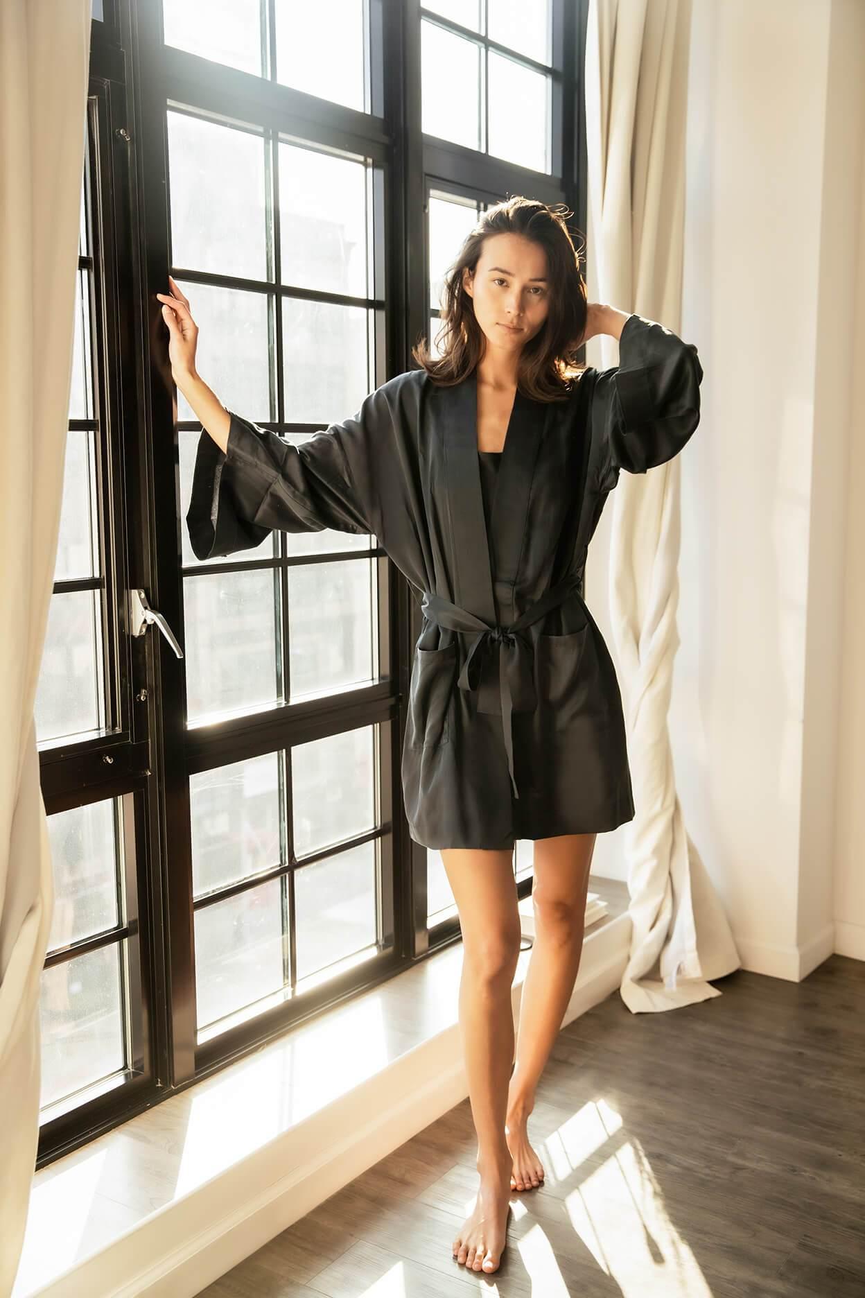 Washable Silk Kimono
