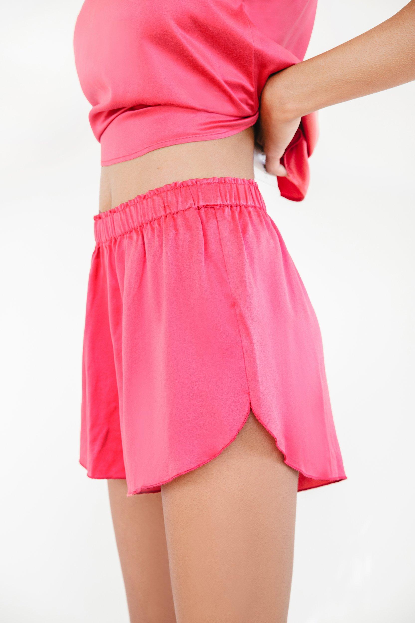 Washable Silk Track Shorts