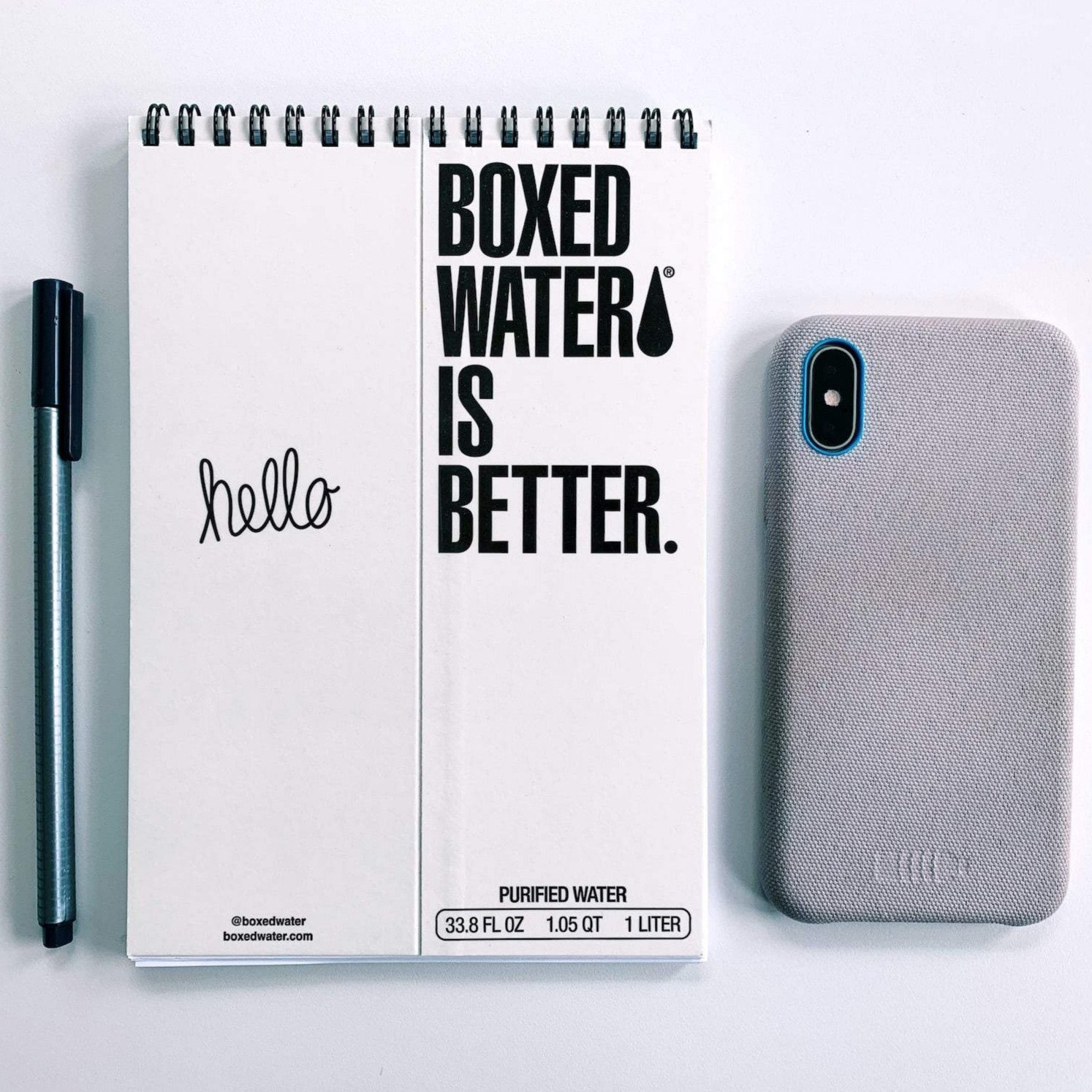 Boxed Water Upcycled Notepad