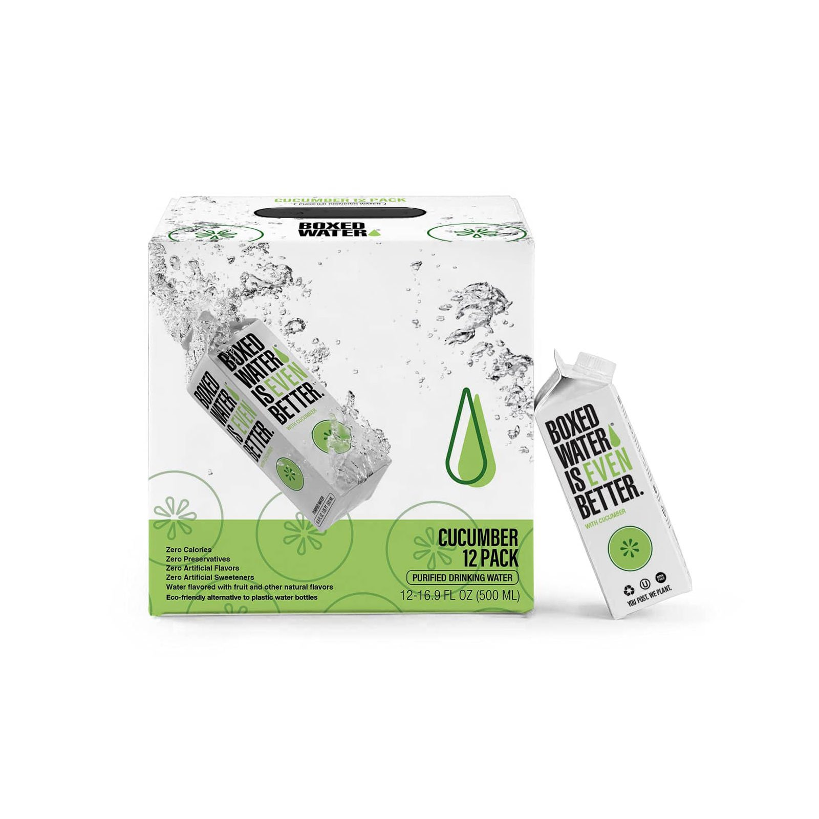 Cucumber Boxed Water
