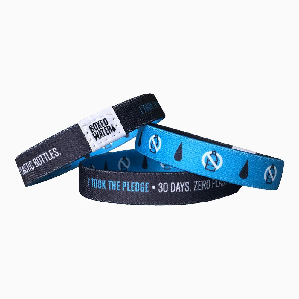 No-Plastic bottles pledge bracelets