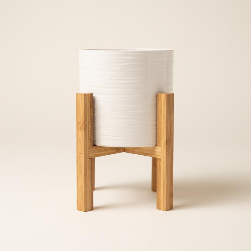Classic Ceramic With Wooden Stand - Medium