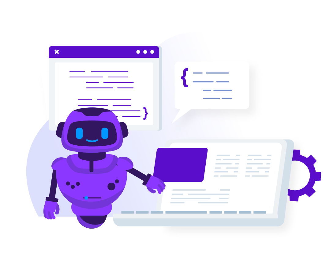 Conceptualization of a Digital Coworker Bot on our Build Your Digital Coworker page.