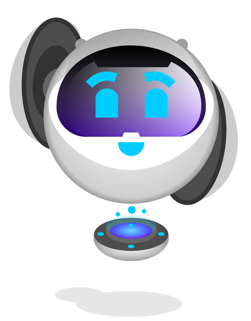 "A Roots Automation Digital Coworker Bot waving ""hello!"""