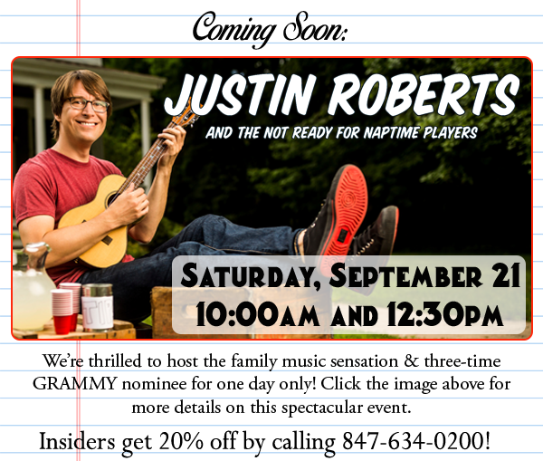 Coming Soon: Justin Roberts and the Not Ready for Naptime Players