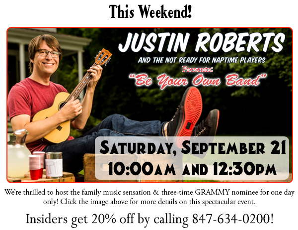 This weekend only: Justin Roberts!