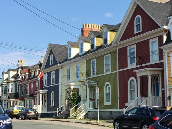 Coloured Houses Newfoundland