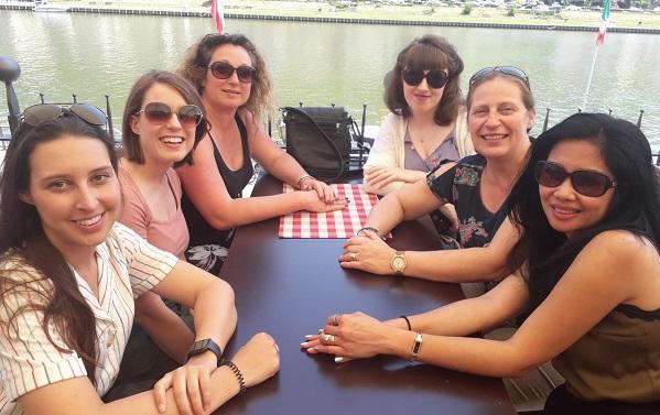 Mel Hammond group at restaurant