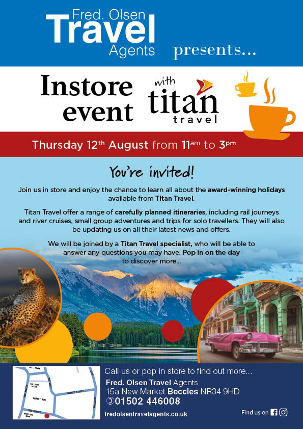 An Instore Event with Titan Travel