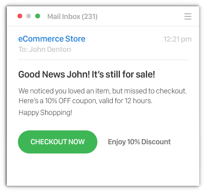 Sendlane Retargeting Email - Ecommerce Business
