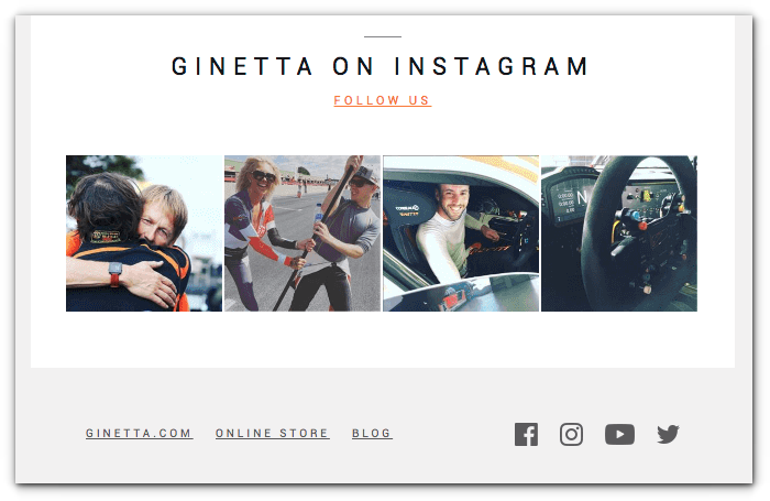 ginetta - sign off your emails - sendlane